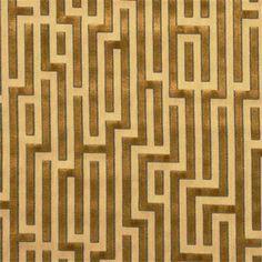 G P & J Baker Fabric BF10049.830 Fretwork Gold