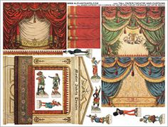 Tall Paper Theatre and Curtains Collage Sheet