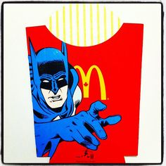 Pop Culture Characters Painted on McDonald's French Fry Packages