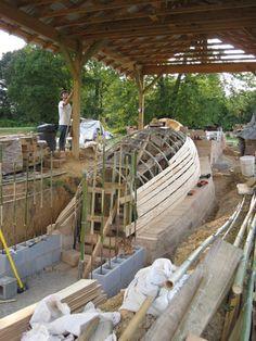 Arco molde fue hecha de bambú