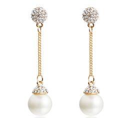 Encrusted Pearl Drop Earrings – OnlyLoveMyself.com