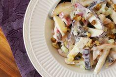Crispy Apple Raisin and Walnut Salad