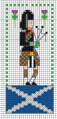 Celebrate St Andrews Day on the 30th November by stitching your very own Scotsman.