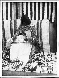 Young Walapai Indian mother with child on her lap, Hackbury, Arizona, ca.1900 (CHS-3171) | by Fæ