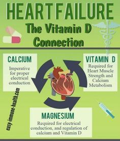 Not only is there a CONNECTION between Congestive Heart Failure and Vitamin D Deficiency, but it may be the CAUSE and the CURE in many cases!