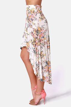 Billabong Wild Roadz High Low Floral Skirt