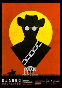 Image of Django Unchained - Minimalist Poster - Needle Design & Illustration