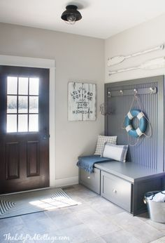 Grey Lake House Mudroom