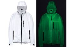 Scrap the reflective tape. Check out this glow in the dark jacket!