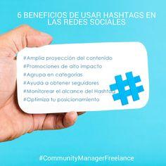 6 Beneficios de usar hashtags en las redes sociales - Community Manager Freelance