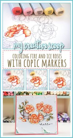 How to Create Fire and Ice Roses using Copic Markers
