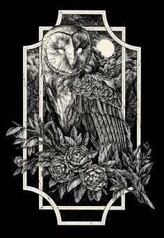Art by Diego Andrade Fine Art Drawing, Dark Art Drawings, Owl Art, Bird Art, Dark Art Illustrations, Illustration Art, Simbolos Tattoo, Tattoos, Arte Dark Souls