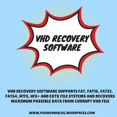 VHD Recovery Software is the useful tool in the field of data recovery as it can easily repairs the corrupt VHD file without any errors. This VHD File Recovery Software supports FAT, FAT16, FAT32, FAT64, NTFS, HFS+ and EXTX files system of the VHD file and is compatible with all the version of Windows.