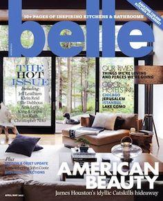 Belle interior design magazine, home decorating magazine, shelter magazine, architecture magazine, lifestyle magazine