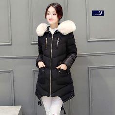 28.90$  Buy now - https://alitems.com/g/1e8d114494b01f4c715516525dc3e8/?i=5&ulp=https%3A%2F%2Fwww.aliexpress.com%2Fitem%2F2016-Korean-winter-coat-girls-long-slim-big-fur-feather-padded-student-thick-jacket-coat-tide%2F32752567756.html - 2016 Korean winter coat girls long slim big fur feather padded student thick jacket coat tide winter coat thick Women Fashion