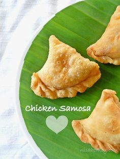 Chicken Samosa......so easy and crunchy, made from scratch!!