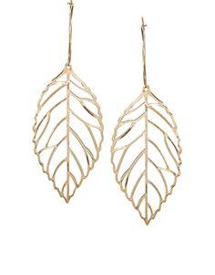 Limited Edition Leaf Hoop Earrings