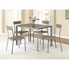 Ash Brown 5-piece Dining Set | Overstock™ Shopping - Big Discounts on Dining Sets