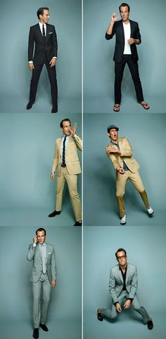 Will Arnett shows that a suit can be just as versatile as the man who's wearing it. GQ, 2009.