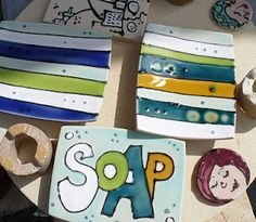 Soap dishes by Ceri White Studios