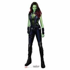 Guardians Of The Galaxy Gamora Cardboard Cutout