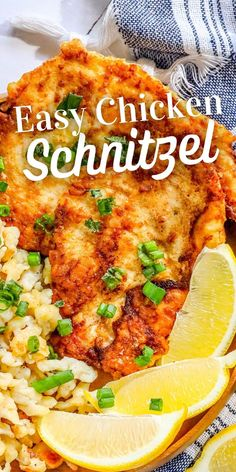 Easy Chicken Schnitzel Recipe - Sweet Cs Designs Duck Recipes, Best Chicken Recipes, Beef Recipes, Easy Recipes, Schnitzel Recipes, Chicken Schnitzel, Best Dishes, Food Dishes, Main Dishes