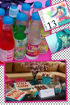 Japanese vocaloid miku 13th birthday party candy sushi Japanese-soda-taste-test