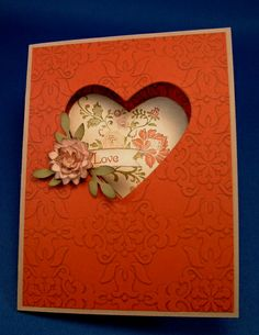 Warm colors! SAB Stampin Up Framlet stamped card