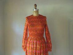 vintage 1960s to 1970s dress / oscar de la by SHESABETTIEboutique, $725.00