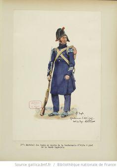 [Grenadiers-gendarmes, gendarmerie d'élite de la garde des consuls et de la garde impériale, 1793-1815 / Notes et aquarelles par E. Fort.] - 31