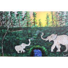 Mother's Love Hand Painting Art, Acrylic Painting Canvas, Acrylic Art, Paint Types, International Artist, Mothers Love, Custom Paint, Christmas Sale, Moose Art