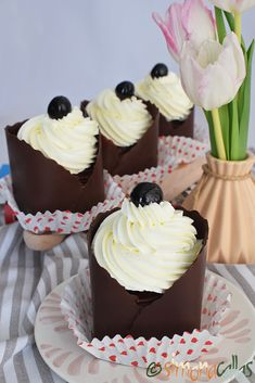 Sweet Cakes, Sweets Recipes, Mini Cupcakes, Wedding Cakes, Bacon, Cheesecake, Yummy Food, Cookies, Candy