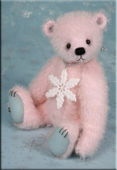 A little Angel, pink teddy bear by Paula Carter. [so cute] Teddy Bear Hug, Teddy Bears, Bear Doll, Everything Pink, Pink Christmas, Belle Photo, Pink Blue, Pastel Pink, Pink Girl