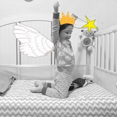 Successfully potty trained and sleeping in her big #girl bed.  Made with #BabyMomentsApp by Tammy Krikorian Gabel.  #Baby #Photography