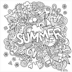 Bring artwork to your home with Summer by Artist Olga Kostenko. This Canvas Gallery Wrap is a wonderful addition to fill the blank spaces on your wall. This colorful and artistic wall decor is guaranteed not to stretch, sag or fade. Summer Coloring Pages, Free Adult Coloring Pages, Cute Coloring Pages, Coloring Pages To Print, Printable Coloring Pages, Coloring Pages For Kids, Free Coloring, Coloring Books, Kids Coloring