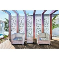 Modinex 6 ft. x 3 ft. Charcoal Gray Decorative Composite Fence Panel Featured in Panama Design-USAMOD5C - The Home Depot Privacy Panels, Fence Panels, Rubbermaid Shed Accessories, Pool Equipment Enclosure, Pool Screen Enclosure, Decorative Screen Panels, Vinyl Lattice Panels, Olive Garden, Garden Route