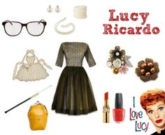 this lucy ricardo ensemble totally reminds me of my fab friend tammy a - I Love Lucy Halloween Costumes