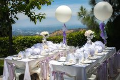 Modern Monochromatic Mermaid Party via Kara's Party Ideas KarasPartyIdeas.com (23)Dining Tables from a
