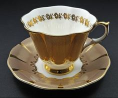 Vintage Queen Anne English Bone China Tea Cup & Saucer, manufactured by Shore & Coggins in Staffordshire, England from 1911 to 1966 (Kev Vincent Photography)