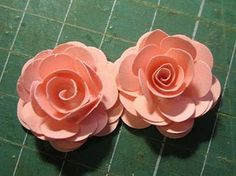 110 best paper flowers using punches and dies images on pinterest in rose tutorial using punches mightylinksfo