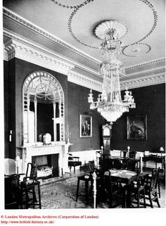Where the Men hung out ^^ Interior: Card-room at White's Club, St. Regency Romance Novels, Historical Romance, London Clubs, History Online, Regency Era, Old London, Glass House, British History, London England