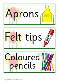 Tulip-themed classroom signs and labels pack (SB10621) - SparkleBox