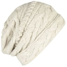 AllSaints Edara Beanie (62 CAD) ❤ liked on Polyvore featuring accessories, hats, beanies, headwear, mist, cable knit hats, slouch beanie, cable hat, slouchy beanie cap and cable knit beanie