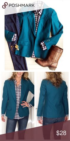 """Pendleton Aquamarine Blazer Pendleton Aquamarine Blazer 