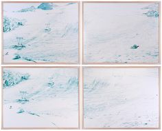 Paddle8: Vedretta Presena I (quadriptych) - Walter Niedermayr