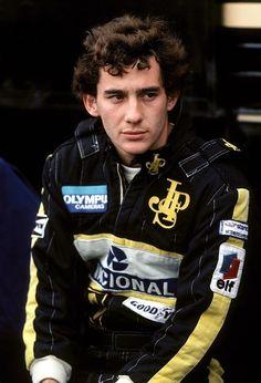 Ayrton at Lotus