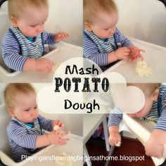 Playing and Learning Begins at Home: Mash Potato dough / rusks