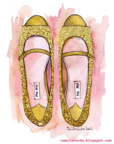 Camila Cerda Illustration: Miu Miu Glitter