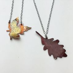 This workshop was so much fun! Each student used a jeweler's saw, hammered, formed, drilled, and filed their leaf. The beautiful colors you see are a heat patina each student achieved with the torch! Don't worry, we will be offering this workshop again!