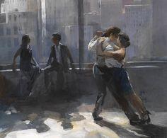 Schilderij - Tango argentino 5 - Willem Haenraets